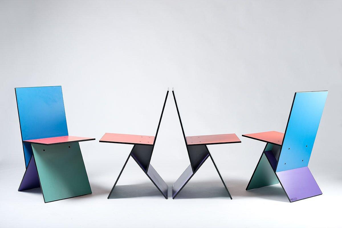 Vilbert Stühle Von Verner Panton Für Ikea 1990er 4er Set