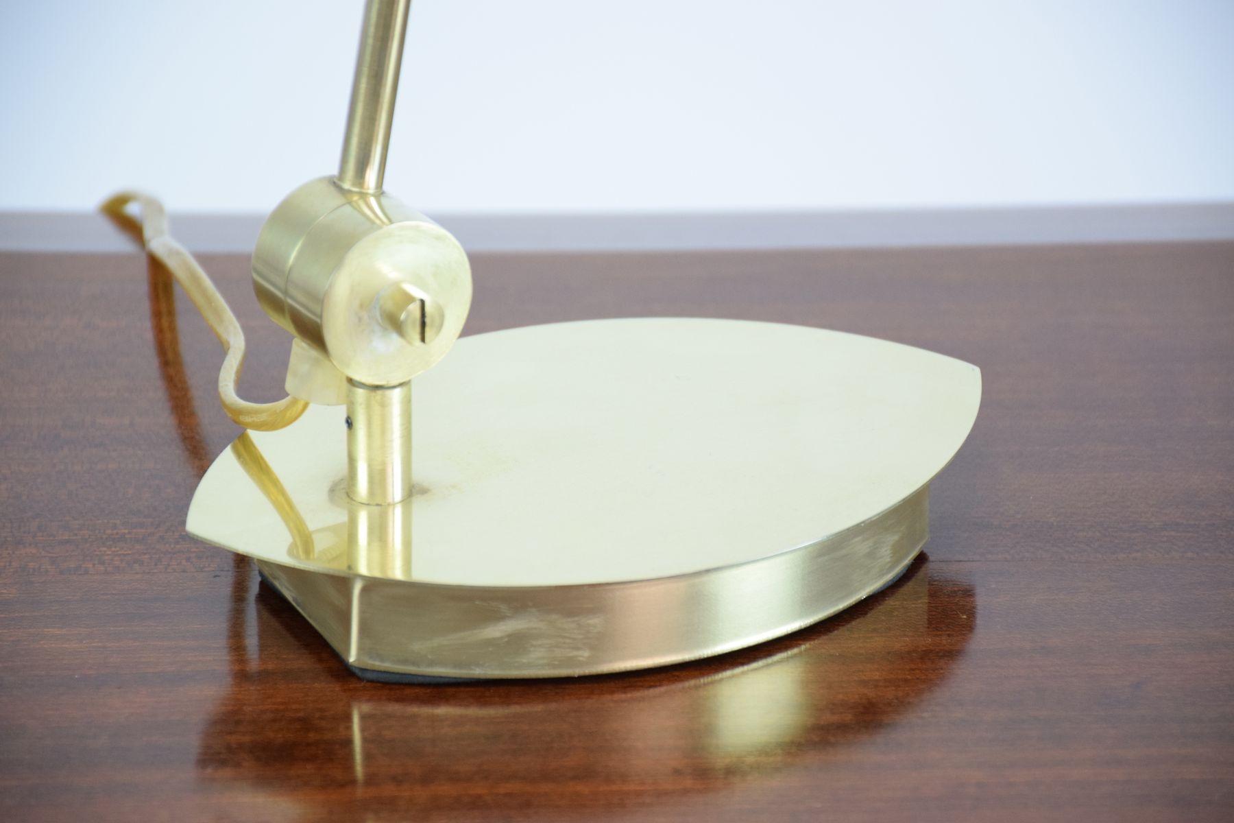 geometrische tischlampe aus messing glas 1980er bei pamono kaufen. Black Bedroom Furniture Sets. Home Design Ideas