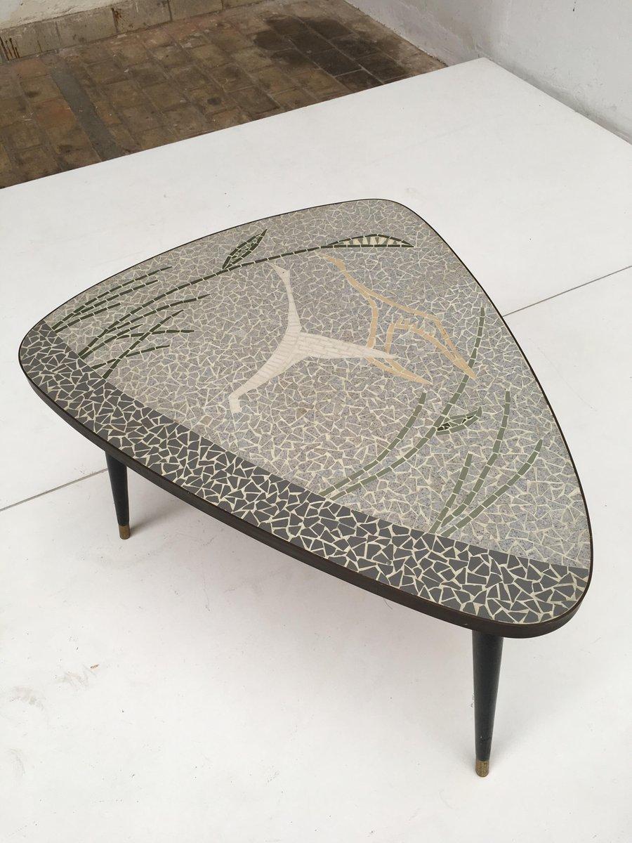 table basse laiton incrust e mosa que repr sentant un oiseau en vol 1950s en vente sur pamono. Black Bedroom Furniture Sets. Home Design Ideas