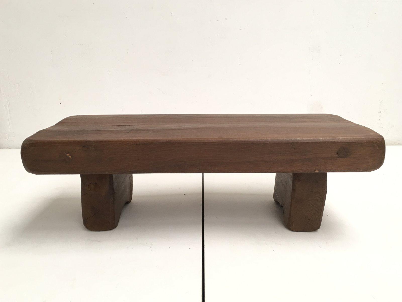 Table basse rustique en ch ne massif france en vente sur pamono - Table basse rustique chene massif ...