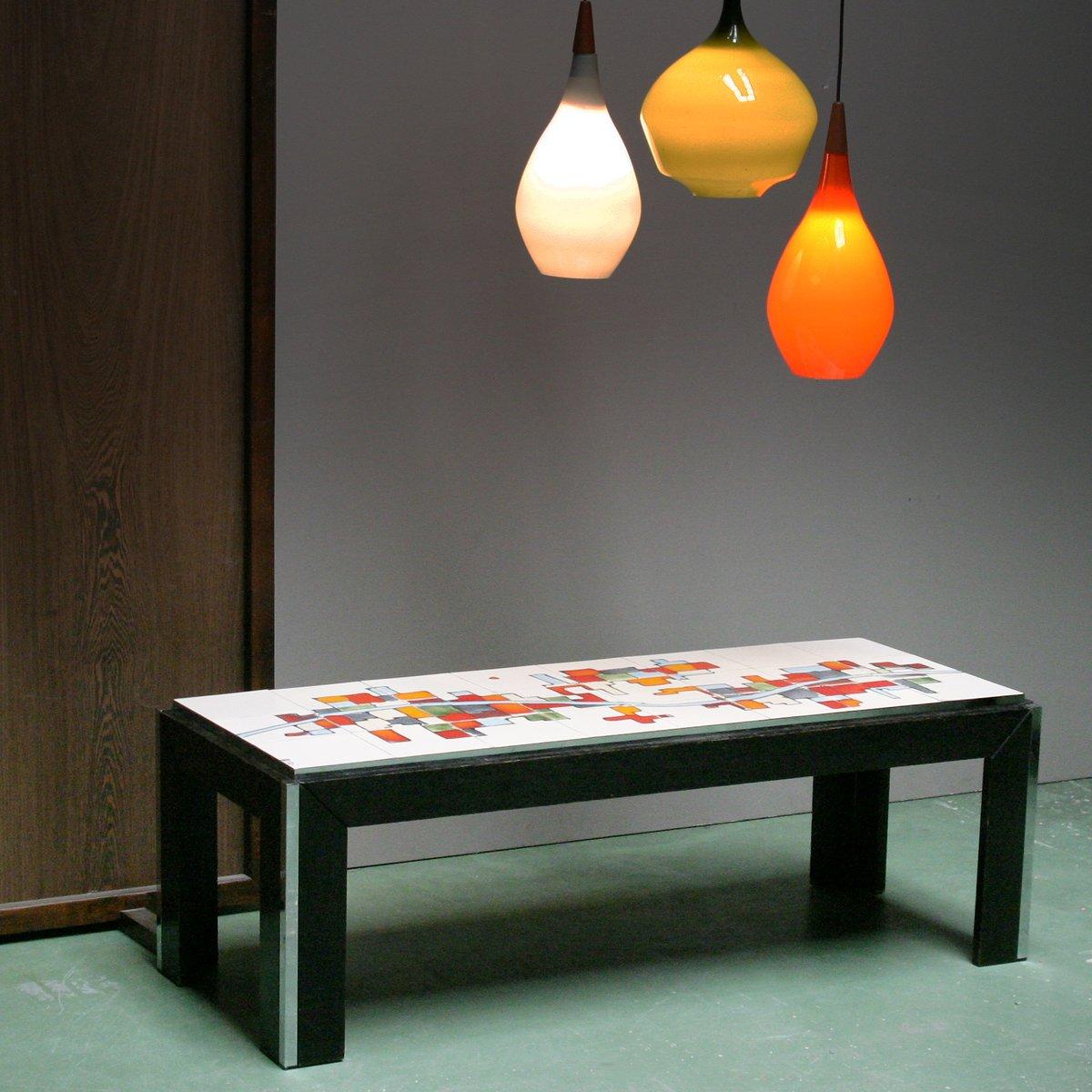 Couchtisch mit Keramikfliesen von Adri Belgique