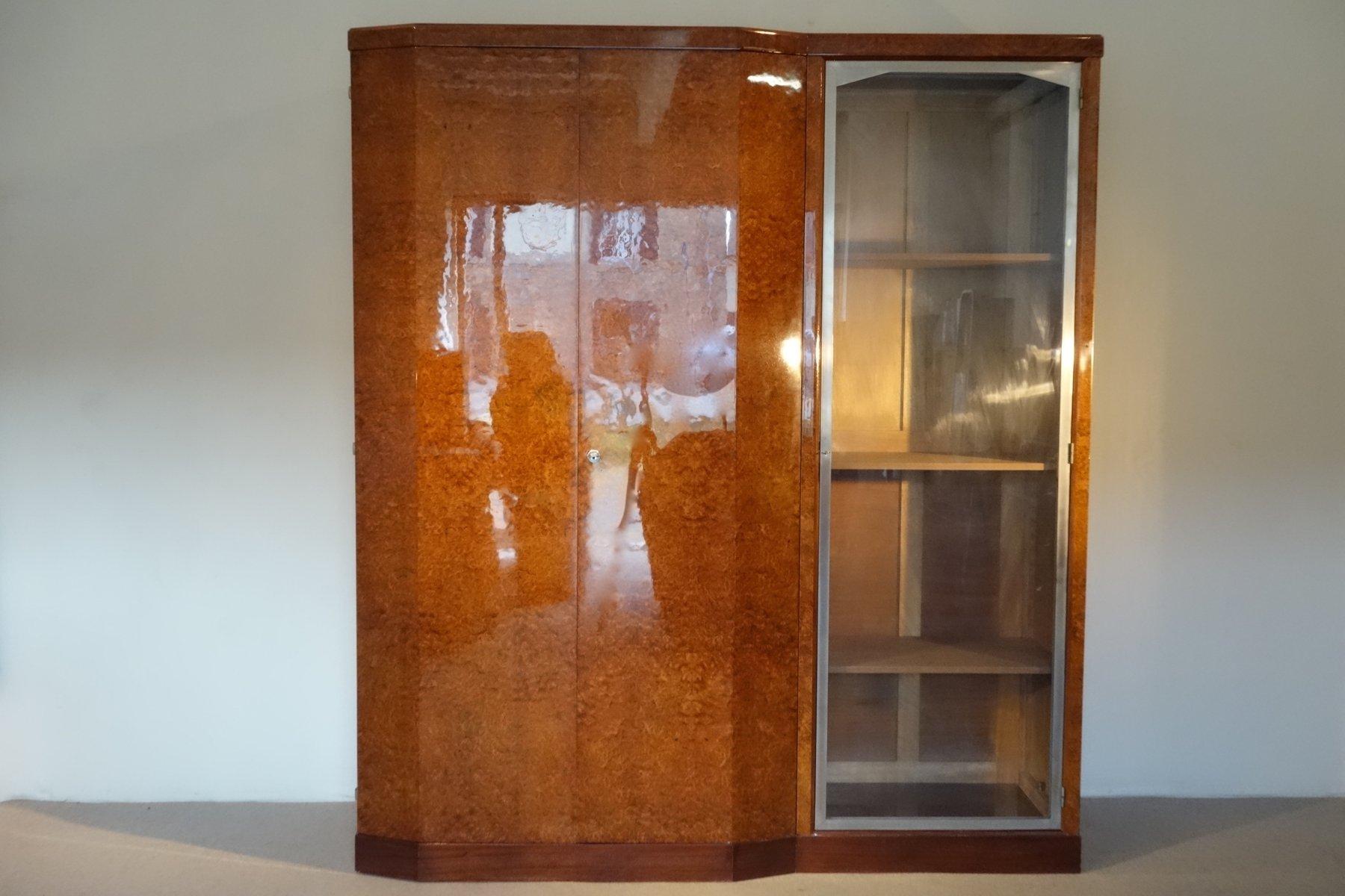 Asymmetrisches Art Déco Bücherregal, 1930er