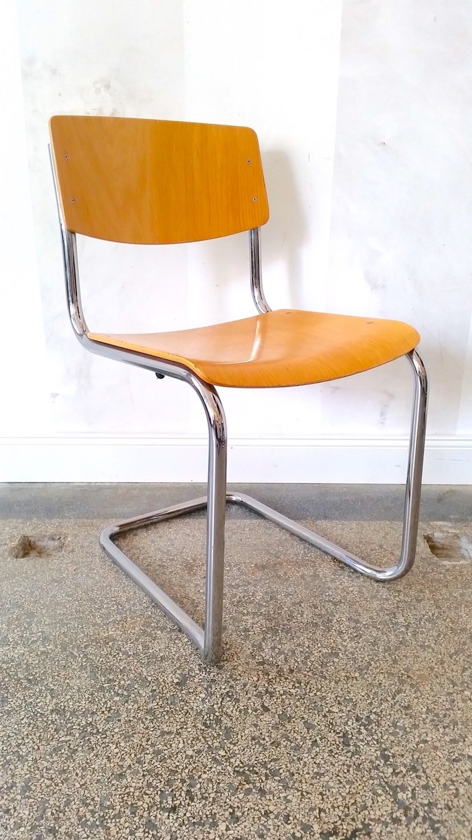 Vintage S43 Cantilevered Stackable Chair By Mart Stam For Thonet