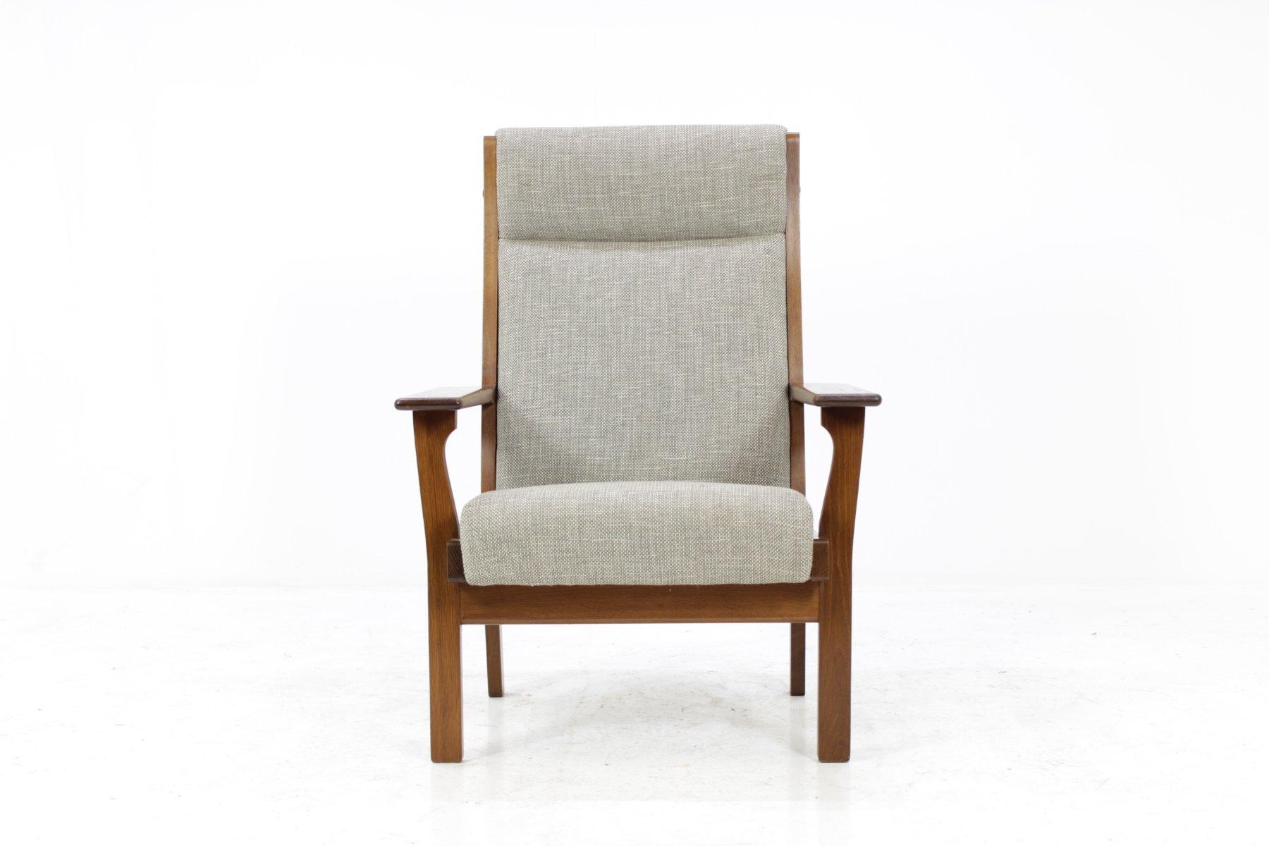 Vintage GE181A Sessel mit Hoher Rückenlehne von Hans J. Wegner für Get...
