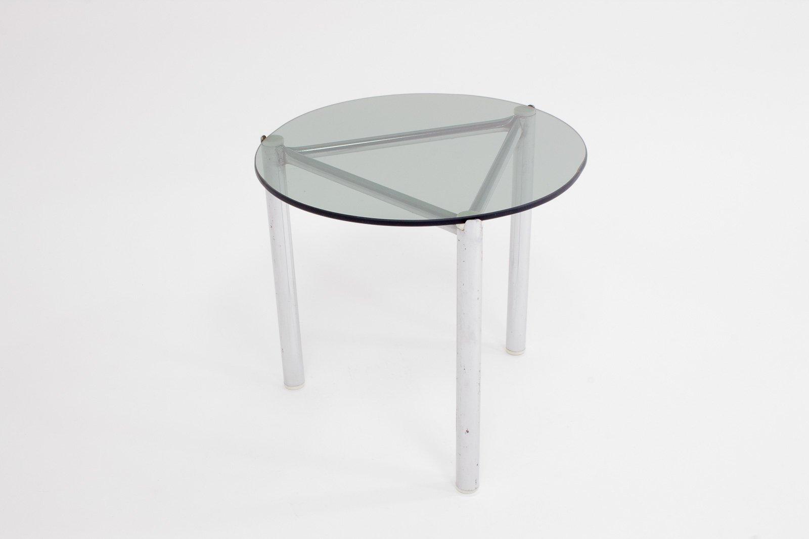 table d 39 appoint avec cadre en chrome et plateau en verre 1960s en vente sur pamono. Black Bedroom Furniture Sets. Home Design Ideas