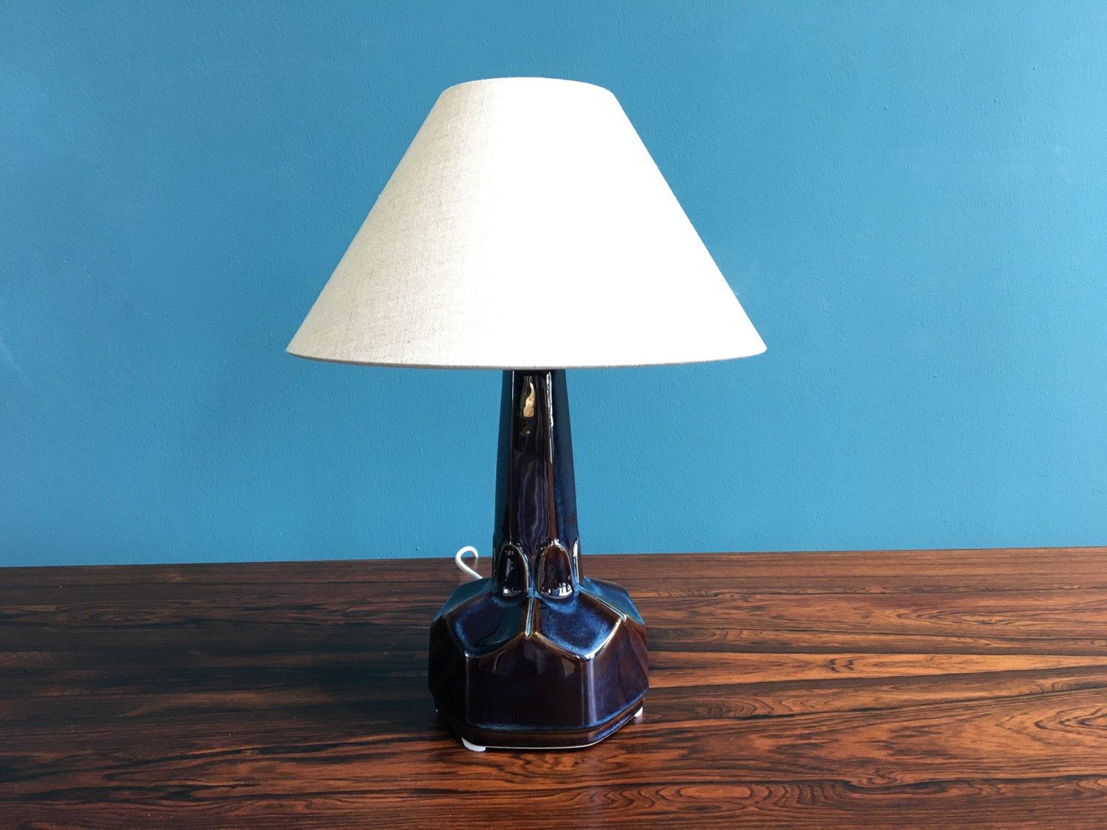 Small Danish Ceramic Table Lamp By Einar Johansen For Soholm Stentoj