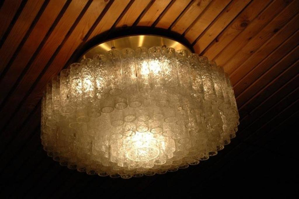 Vintage Large Flush Mount Light Fixture From Doria Leuchten