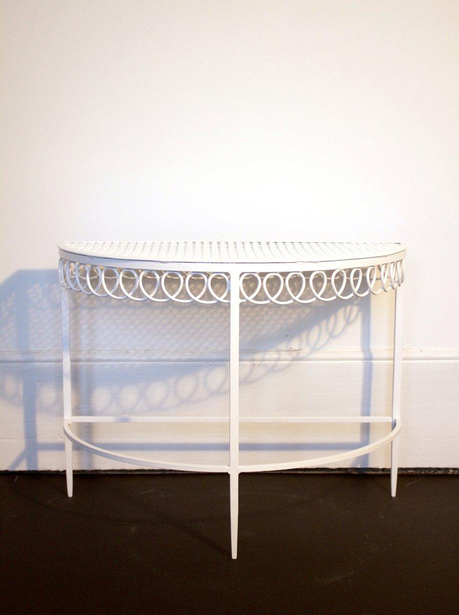 Vintage Halbmond Tische von Mathieu Matégot, 2er Set