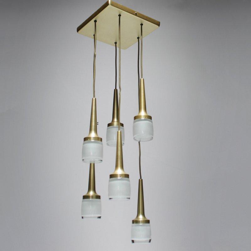 Deutsche Deckenlampe mit Sechs Pendelleuchten von Staff