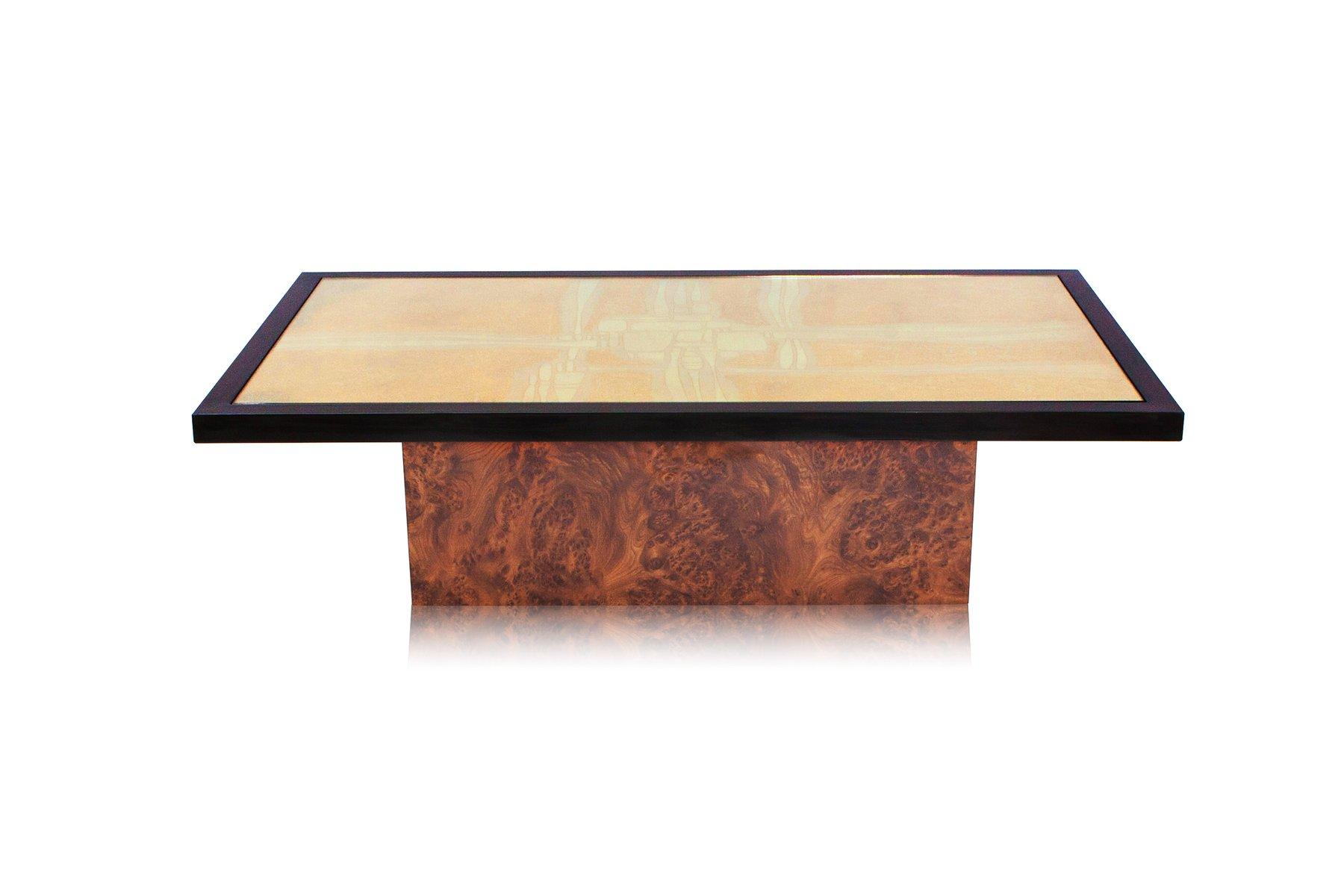 table basse en laiton maill par maho 1970s en vente sur pamono. Black Bedroom Furniture Sets. Home Design Ideas
