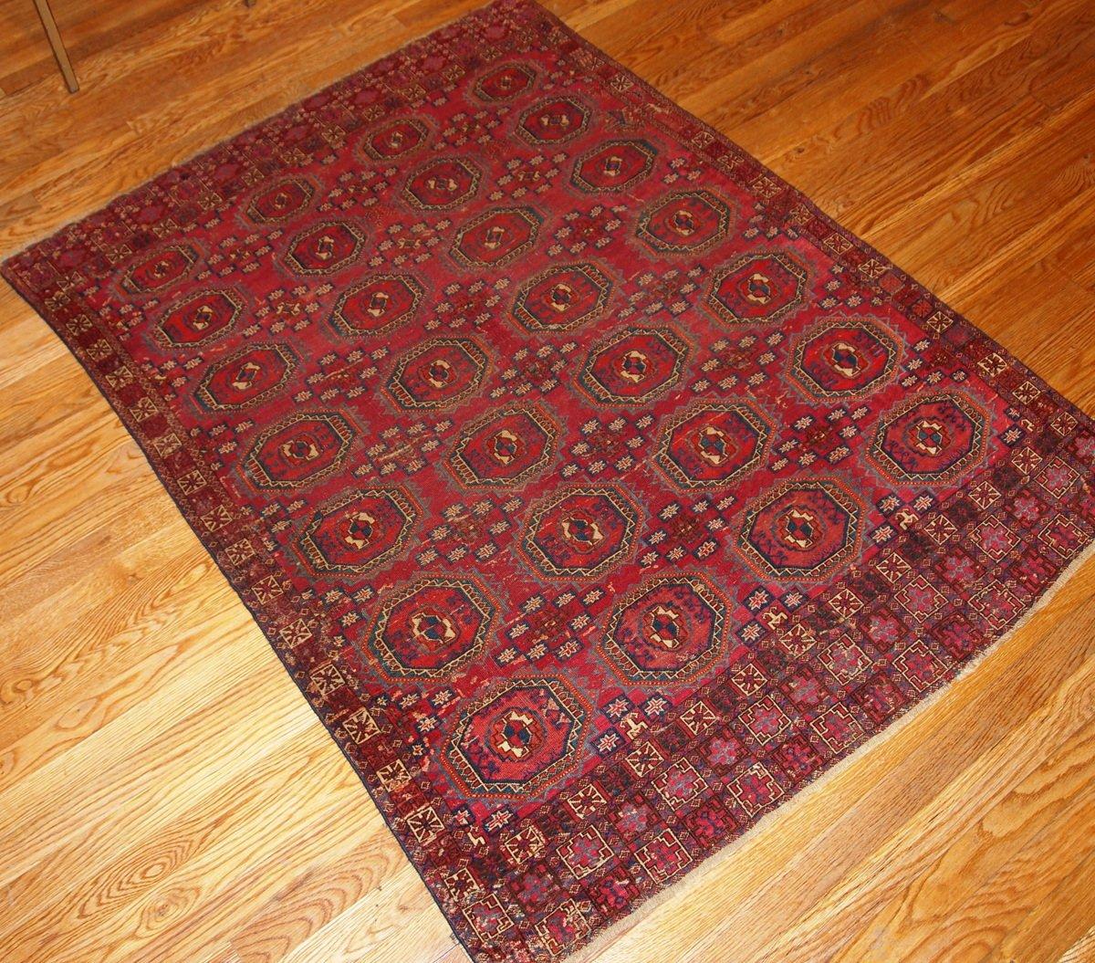 Antique Turkoman Rug: Antique Handmade Turkoman Saryk Rug, 1850s For Sale At Pamono