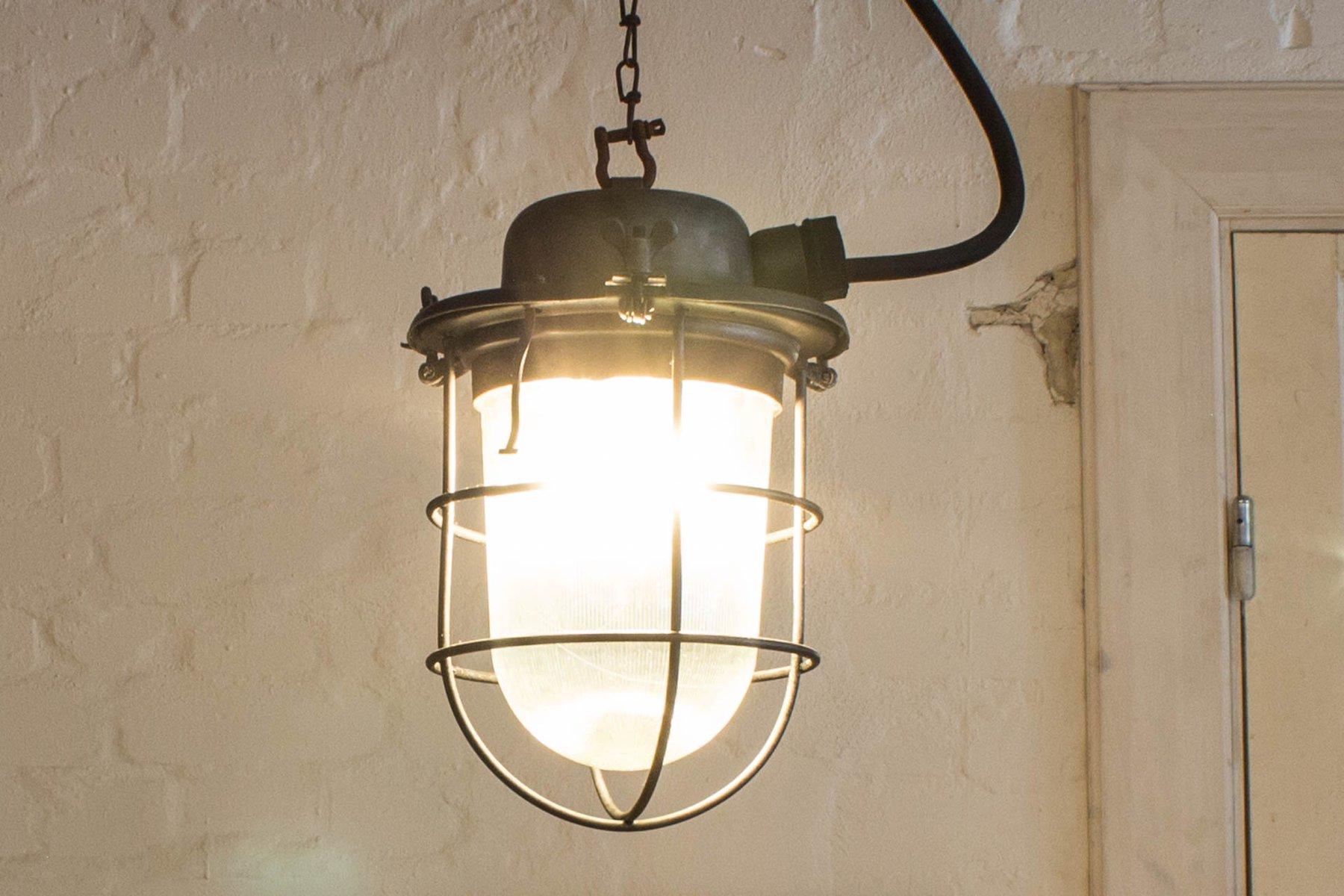 Explosionsgeschützte Mid-Century Bunkerlampe