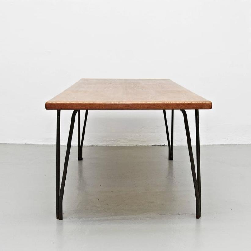 grande table de salle manger belgique 1950s en vente sur pamono. Black Bedroom Furniture Sets. Home Design Ideas