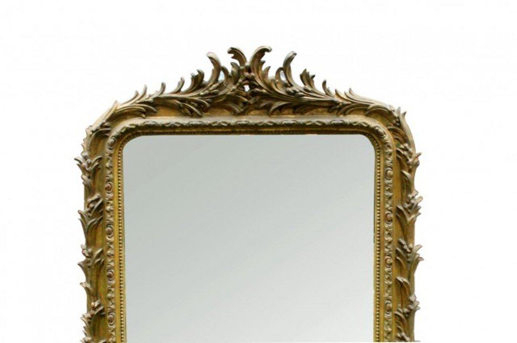 Specchio antico in stile luigi filippo dorato in vendita su pamono - Specchio dorato antico ...
