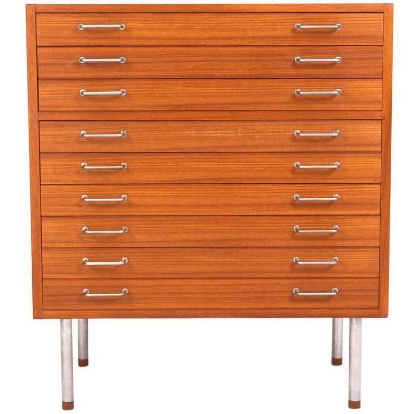 Vintage Flat File Cabinet by Hans J. Wegner for Johannes Hansen  sc 1 st  Pamono & Vintage Flat File Cabinet by Hans J. Wegner for Johannes Hansen for ...