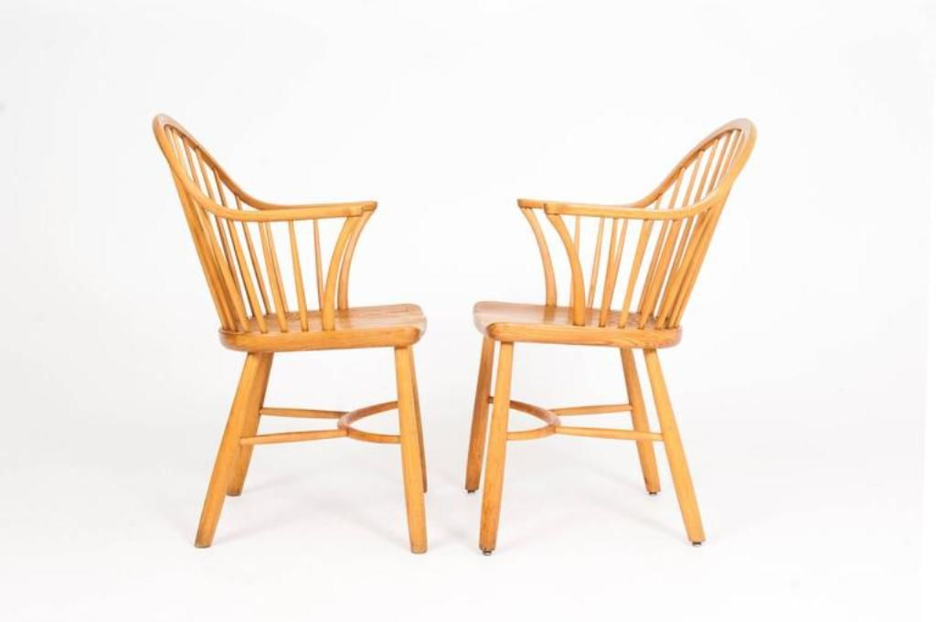 windsor st hle von palle suenson f r fritz hansen 2er set bei pamono kaufen. Black Bedroom Furniture Sets. Home Design Ideas