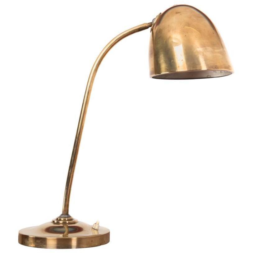 Vintage Messing Tischlampe von Vilhelm Lauritzen, 1940er