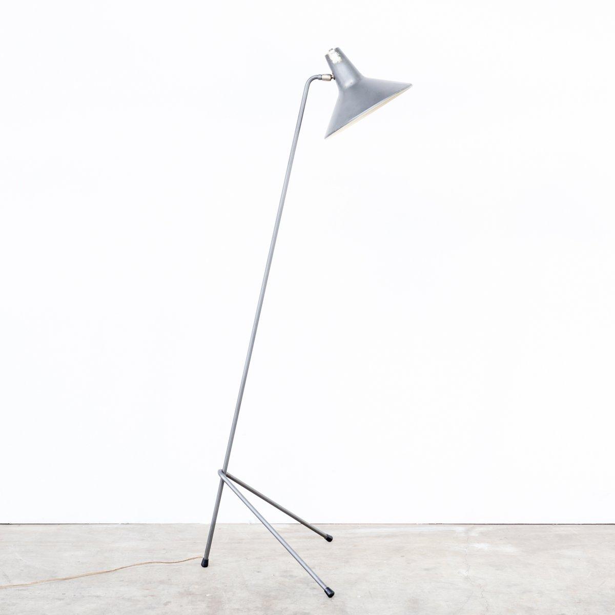 Metall Dreibein Stehlampe, 1960er