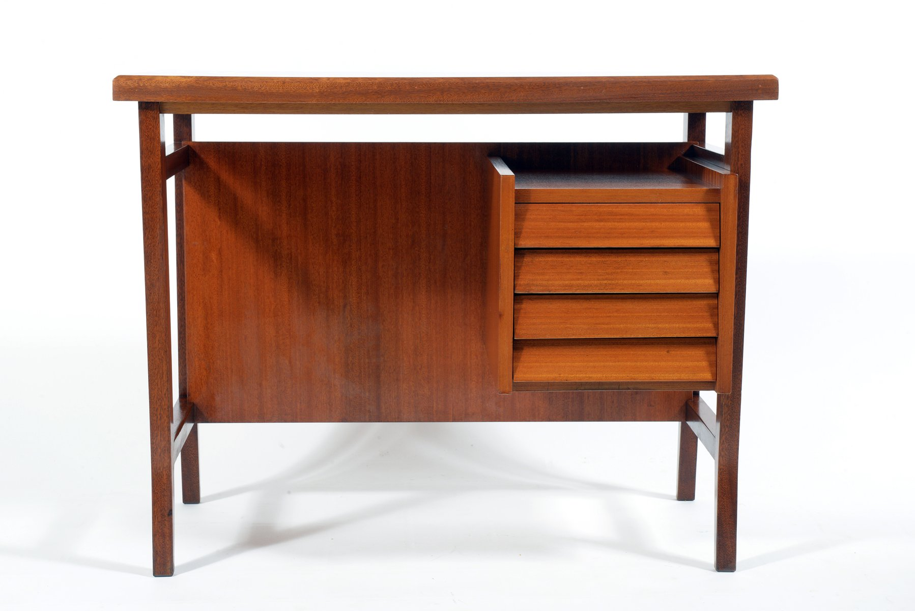 Small italian writing desk by gio ponti for schirolli 1950s