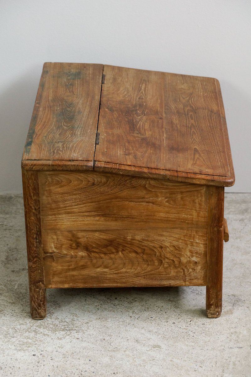 Indian Floor Writing Desk In Teak 1900s For At Pamono