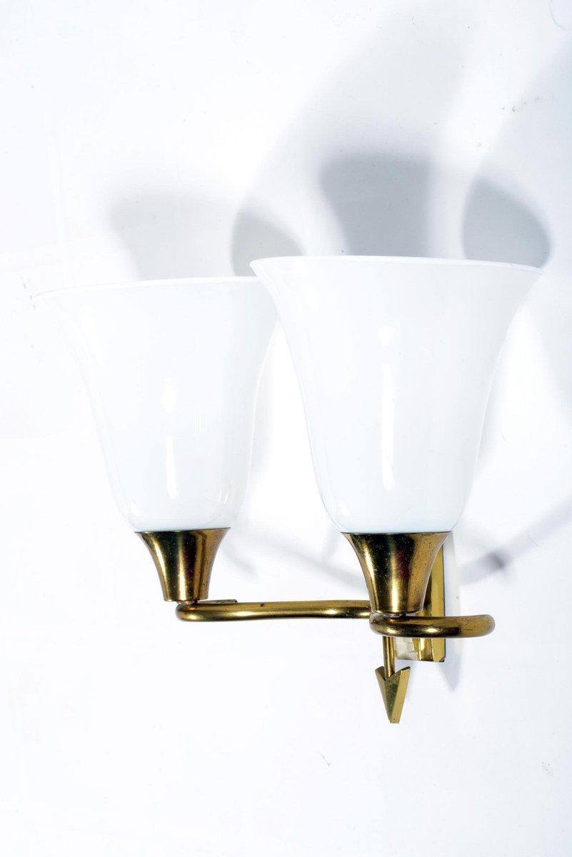 Lampade da parete a doppio braccio di emilio lancia italia anni 39 40 set di 4 in vendita su pamono - Lampade da parete di design ...