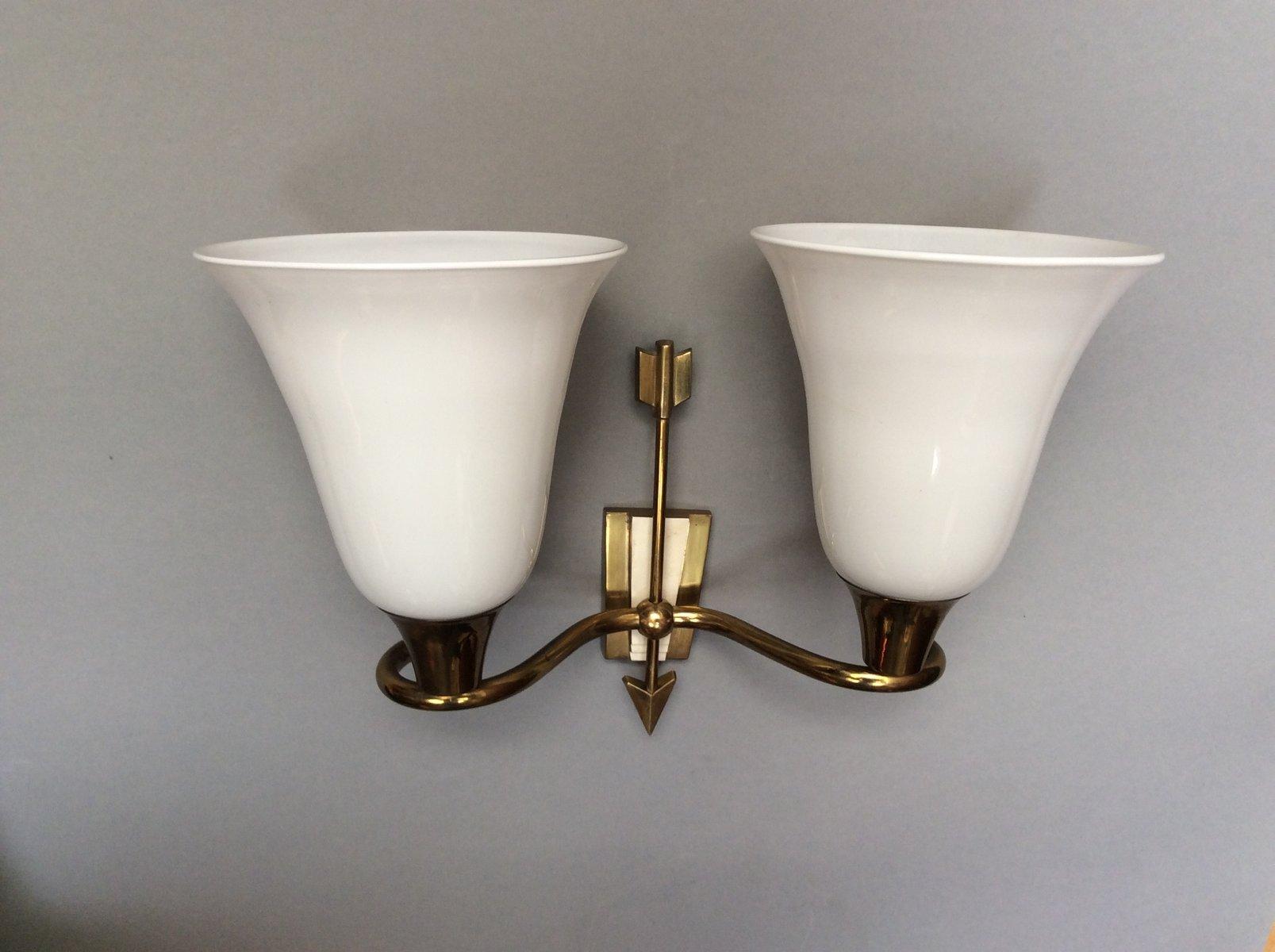 Italienische wandlampen mit zwei leuchten von emilio for Italienische leuchten