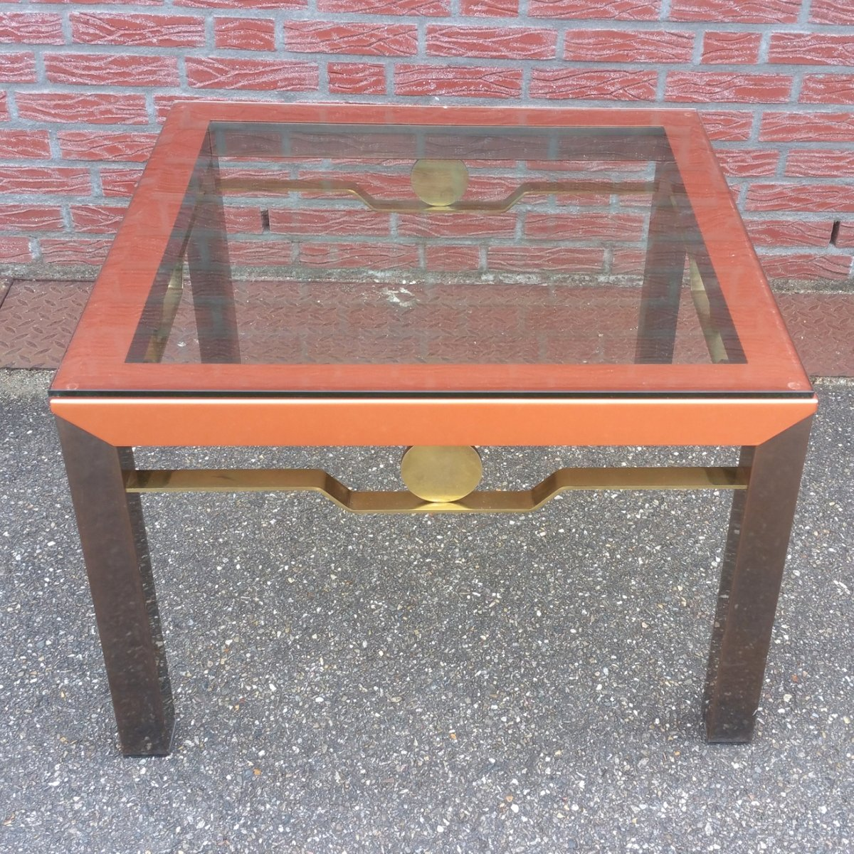 Retro Style Coffee Table Australia: Vintage Hollywood Regency Coffee Table With Glass Top For