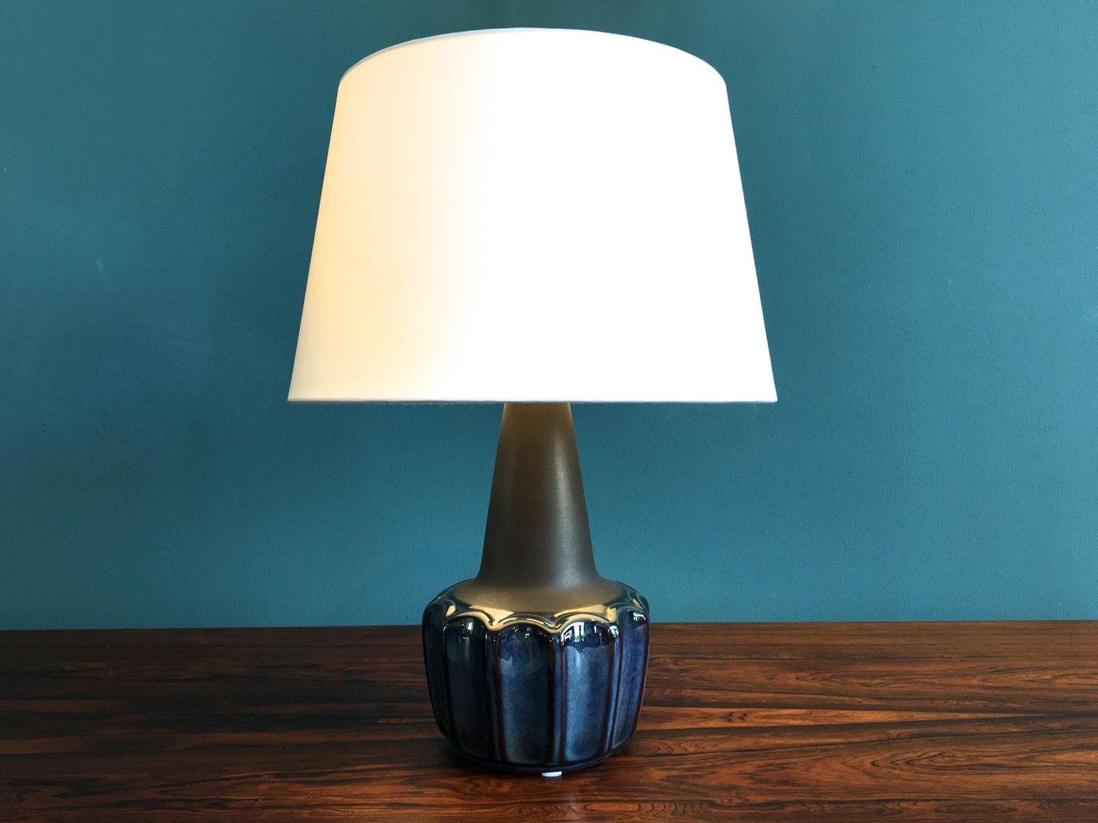 Lampada da tavolo vintage in ceramica di einar johansen per soholm danimarca anni 39 60 in - Lampada da tavolo vintage ...