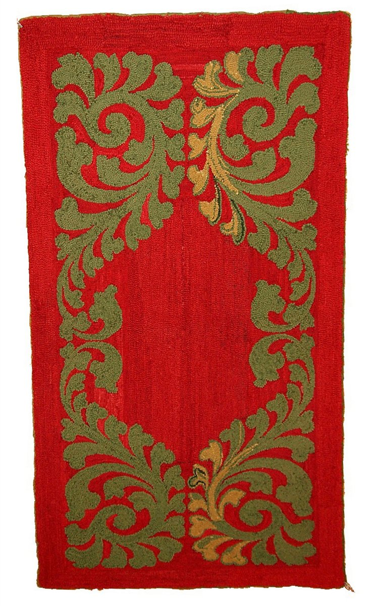 tapis vintage rouge fait main am rique 1920s en vente sur pamono. Black Bedroom Furniture Sets. Home Design Ideas