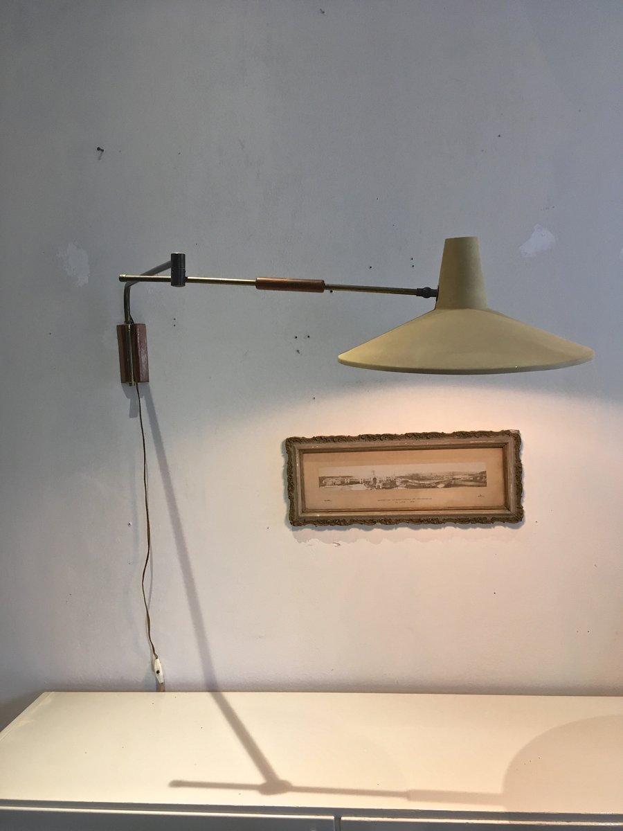 Niederländische Vintage Wandlampe mit Gelenk