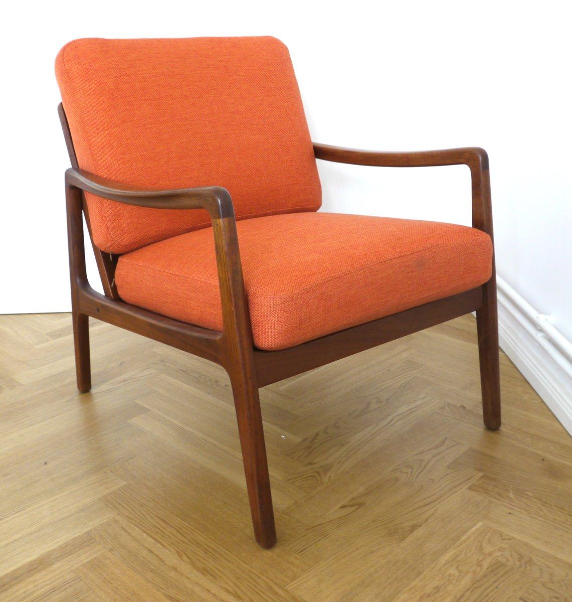 Oranger Mid-Century FD109 Teak Sessel von Ole Wanscher für France & Sø...