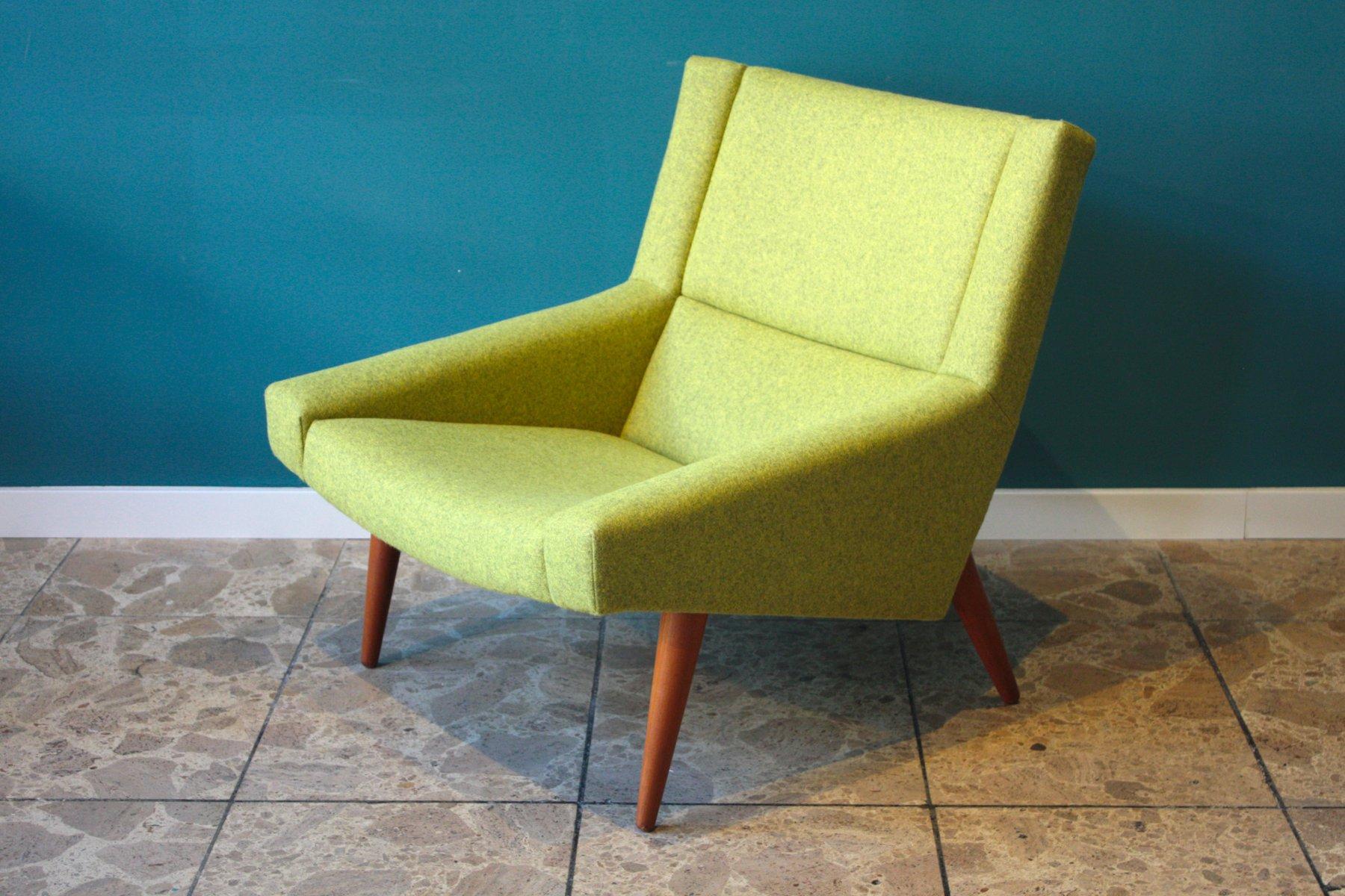 Grüner Dänischer Mid-Century Modell 50 Sessel von Illum Wikkelso für S...