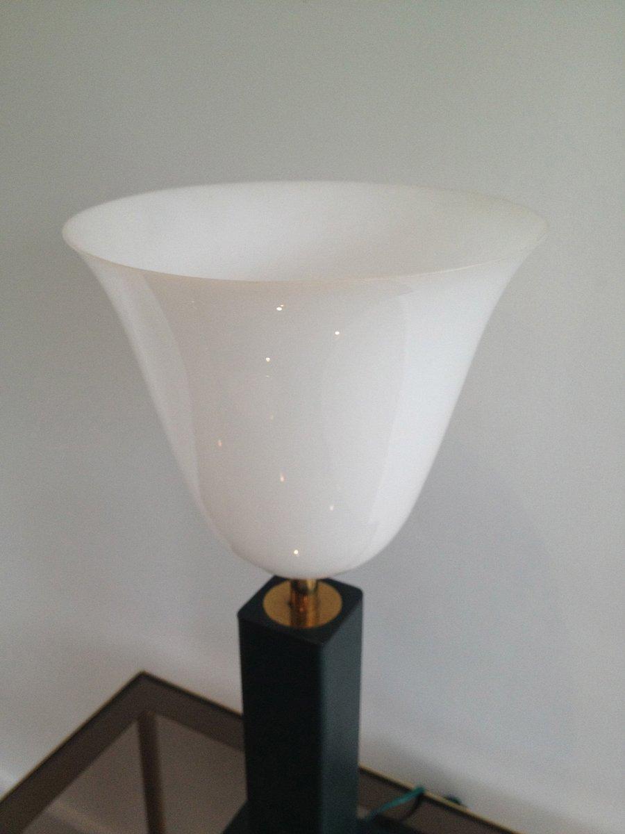 lampe de bureau en cuir et plastique blanc 1950s en vente sur pamono. Black Bedroom Furniture Sets. Home Design Ideas