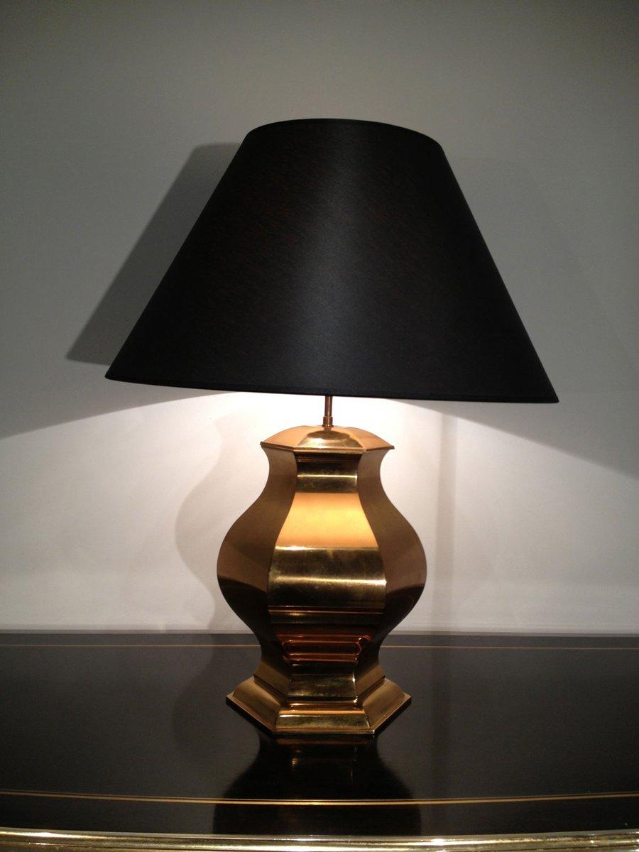 Geschwungene Messing Tischlampe, 1960er
