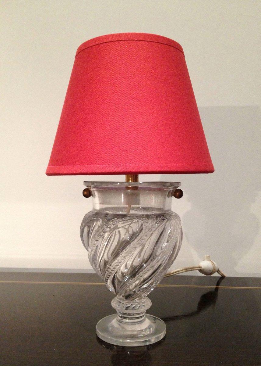 Kleine Glas Tischlampe, 1940er