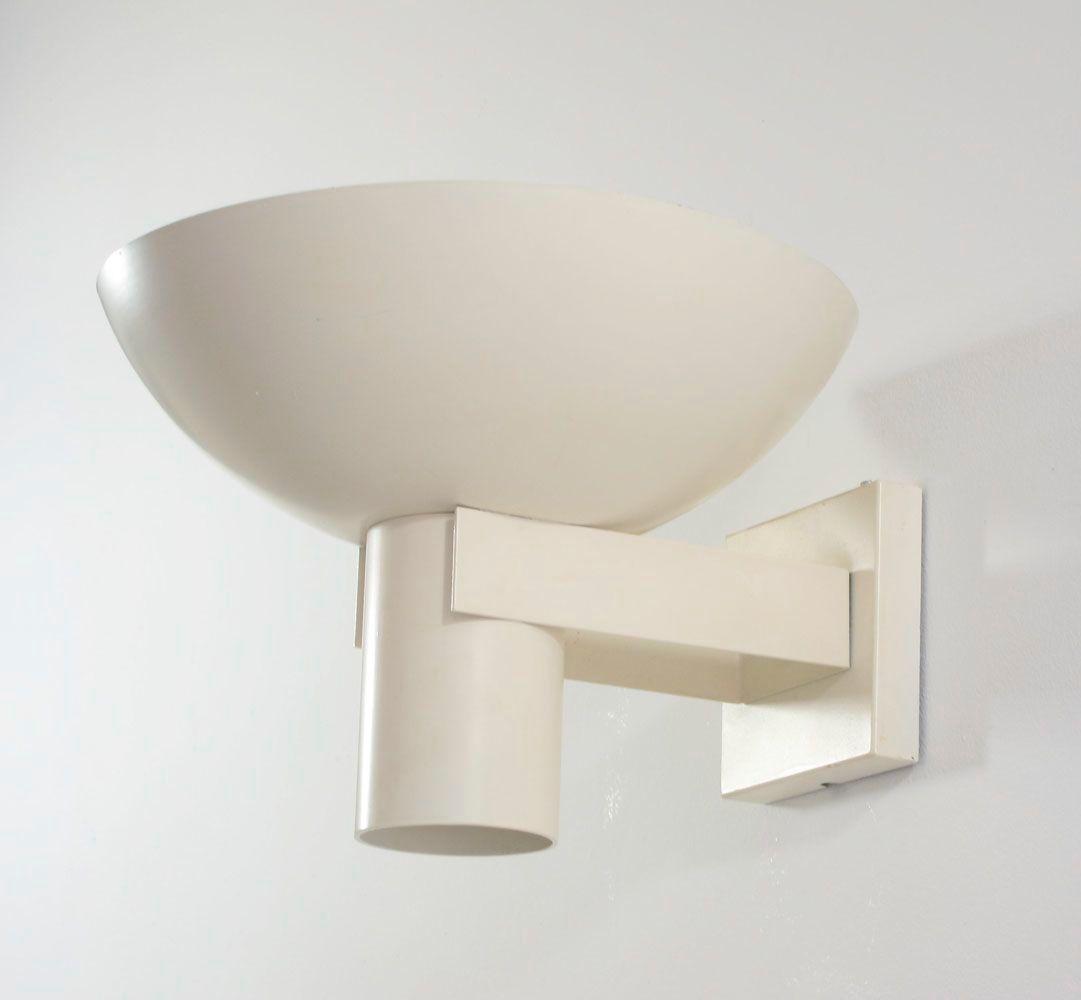 Weiße Wandlampe von Louis Kalff für Philips, 1960er
