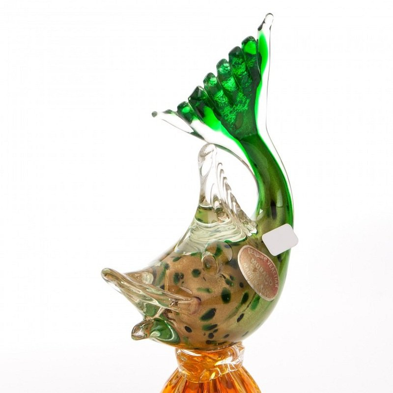 Vintage Murano Glass Fish Vase For Sale At Pamono