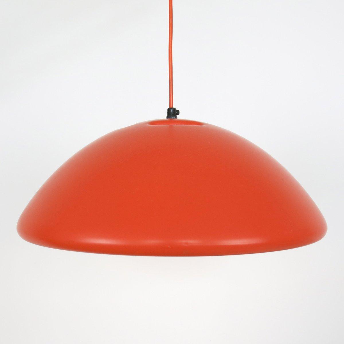 Orangefarbene Data Hängelampe von Bjarne Bo für Fog & Mørup, 1970er