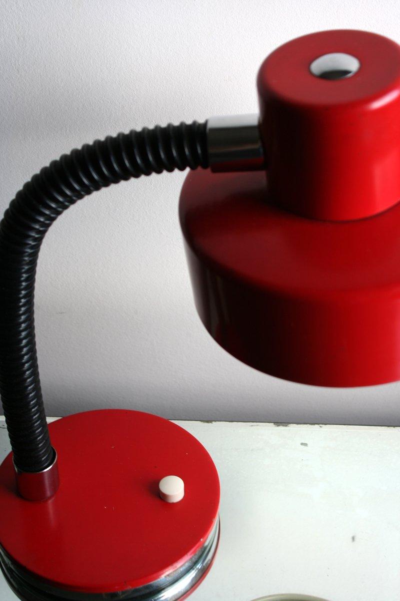 lampe de bureau rouge m tallique 1970s en vente sur pamono. Black Bedroom Furniture Sets. Home Design Ideas