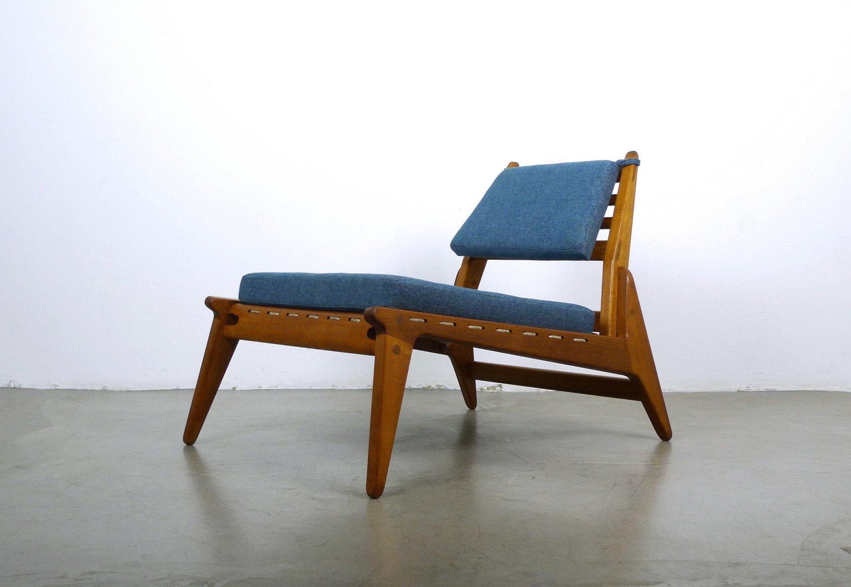 niedriger deutscher vintage sessel mit ottoman 1950er bei. Black Bedroom Furniture Sets. Home Design Ideas
