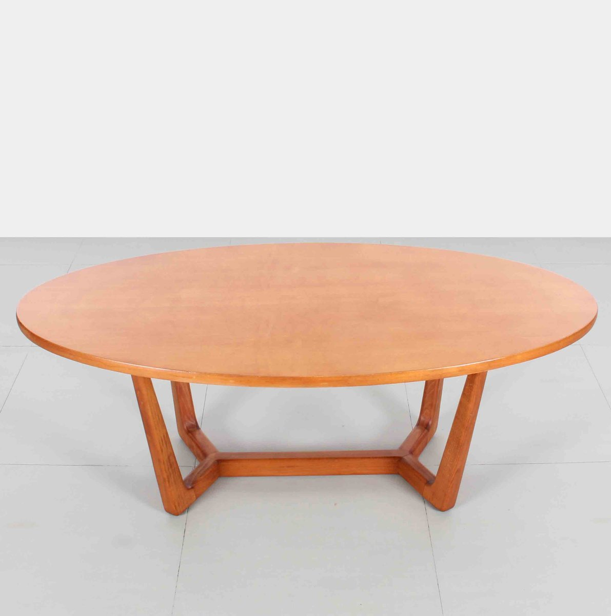 Oval Espresso Coffee Table: Czech Oval Coffee Table, 1960s For Sale At Pamono
