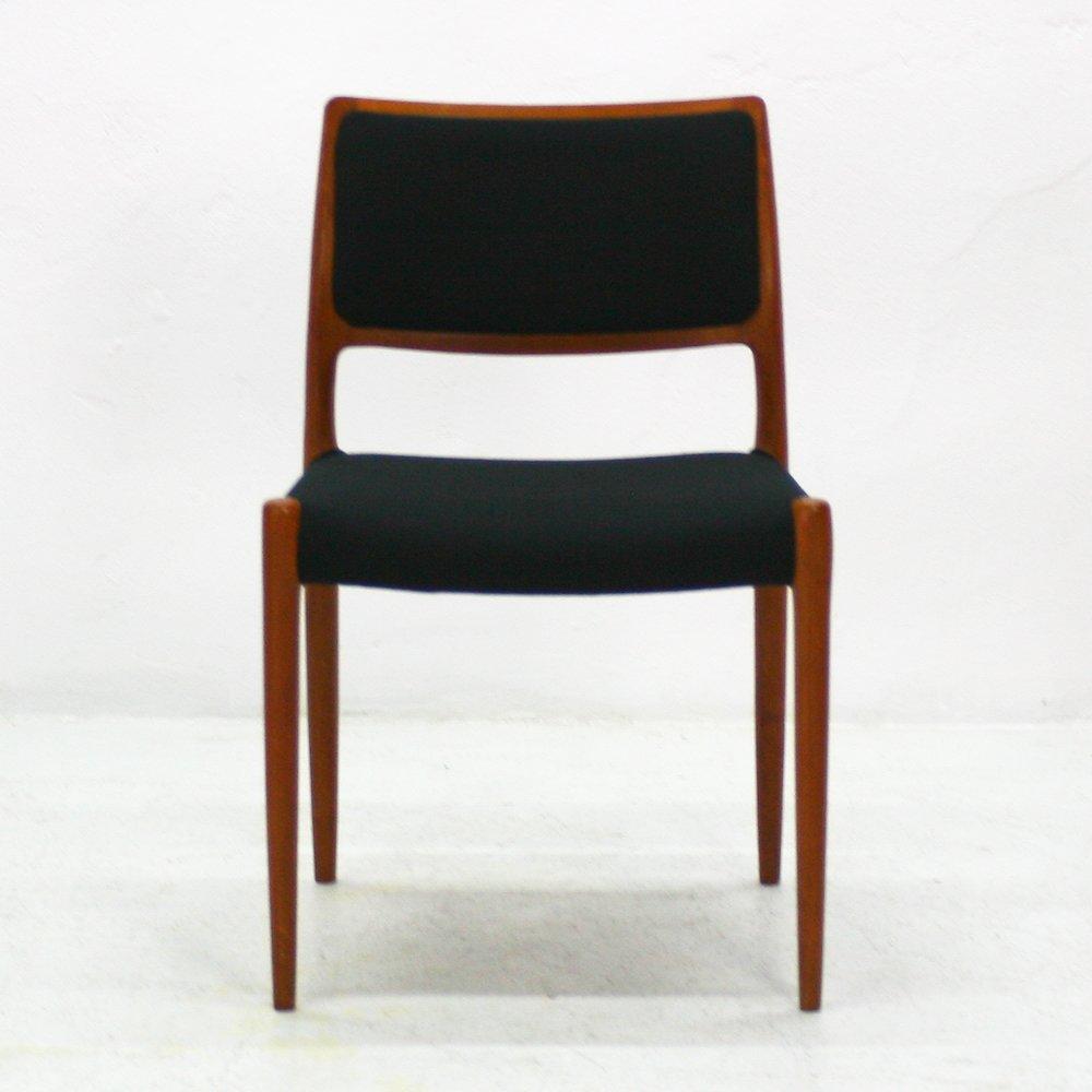 d nischer modell 80 teak stuhl von niels otto m ller f r j l m ller 1960er bei pamono kaufen. Black Bedroom Furniture Sets. Home Design Ideas