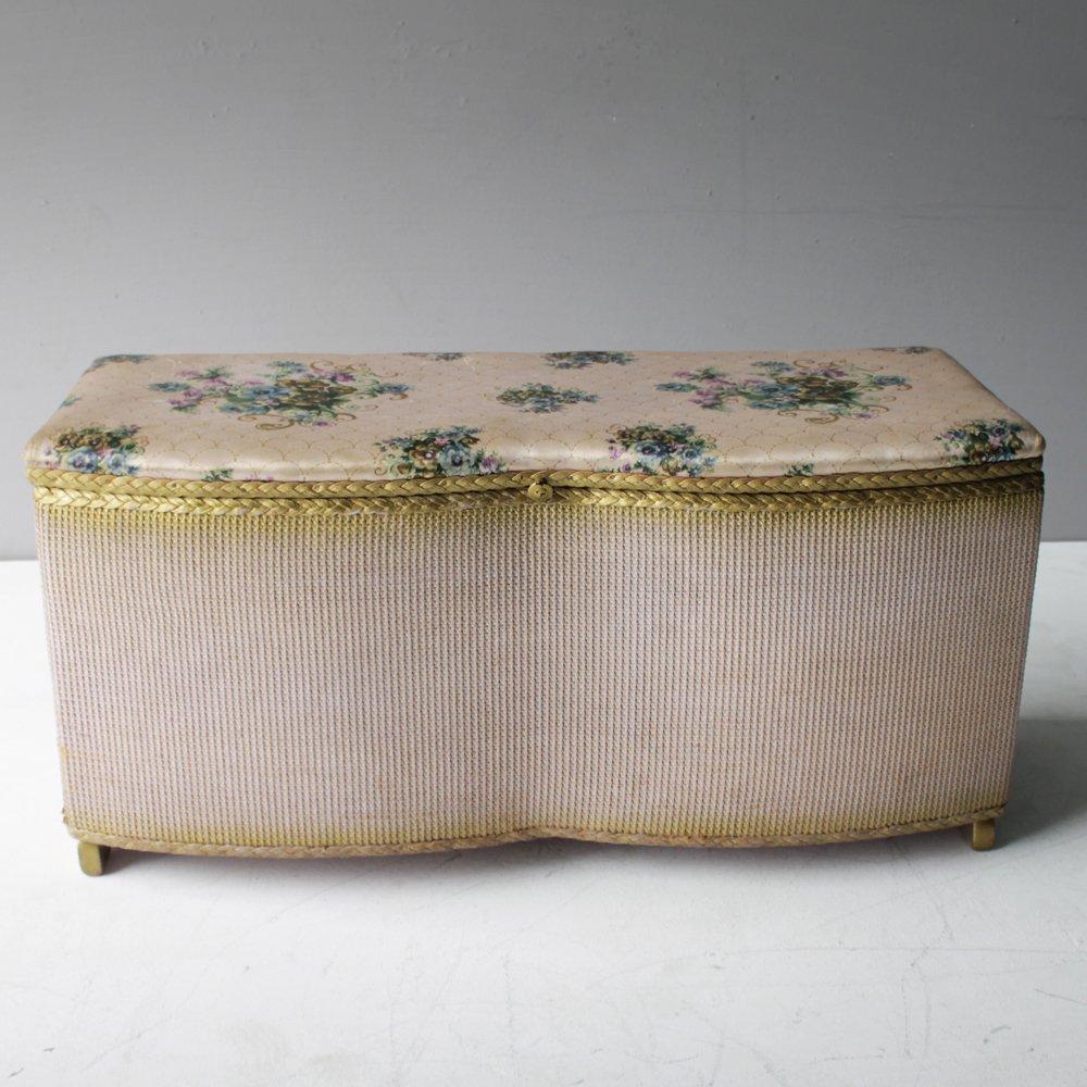 Vintage Korbgeflecht Bank von Lloyd Loom