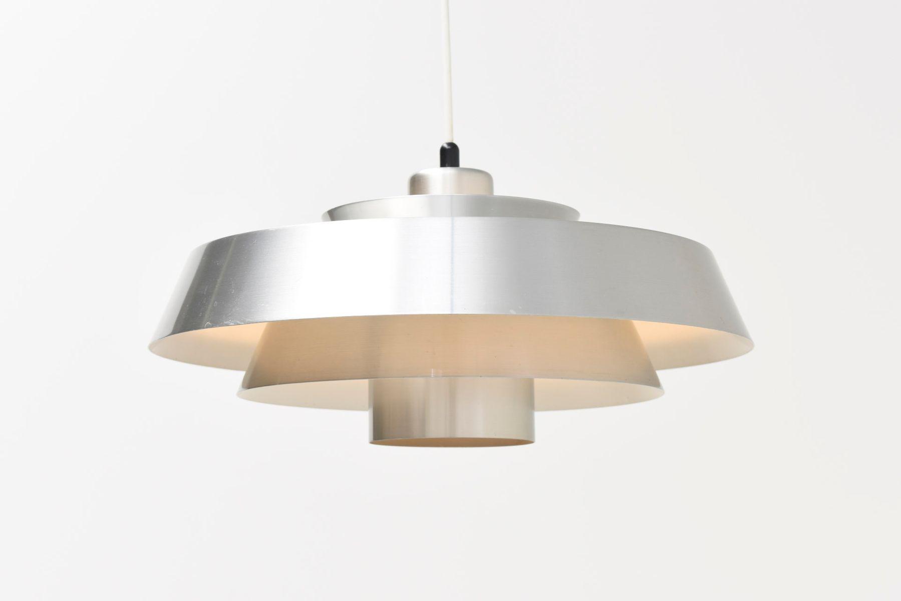 Vintage Nova Lampe aus Aluminium von Jo Hammerborg für Fog & Mørup