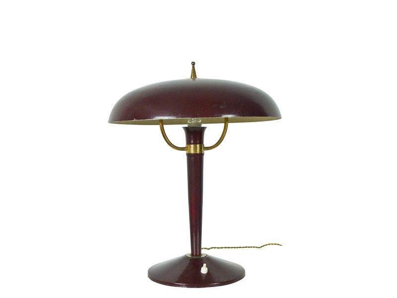 Vintage Italian Cast Iron Table Lamp, 1950s