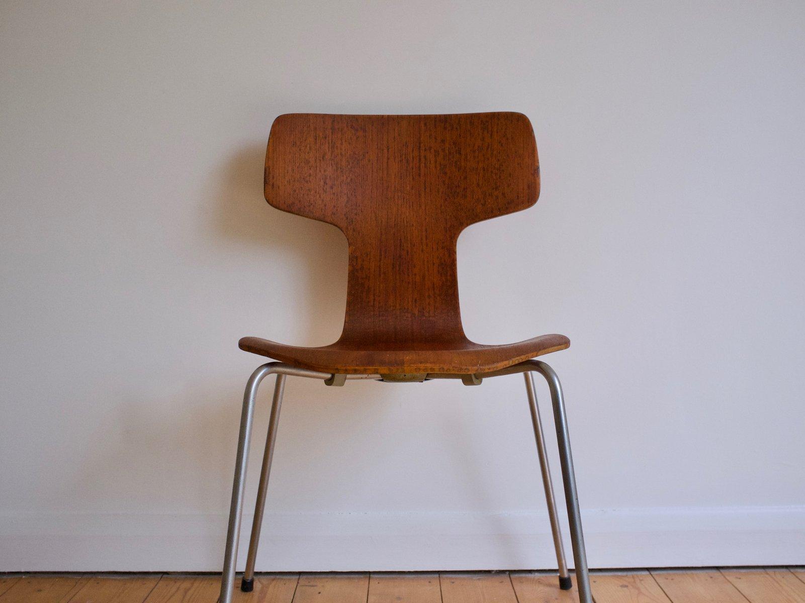 d nischer mid centuryteak modell 3103 hammer stuhl von. Black Bedroom Furniture Sets. Home Design Ideas