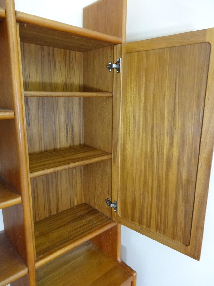 Vintage Danish Teak Wall Unit from Dyrlund, 1970s for sale at Pamono