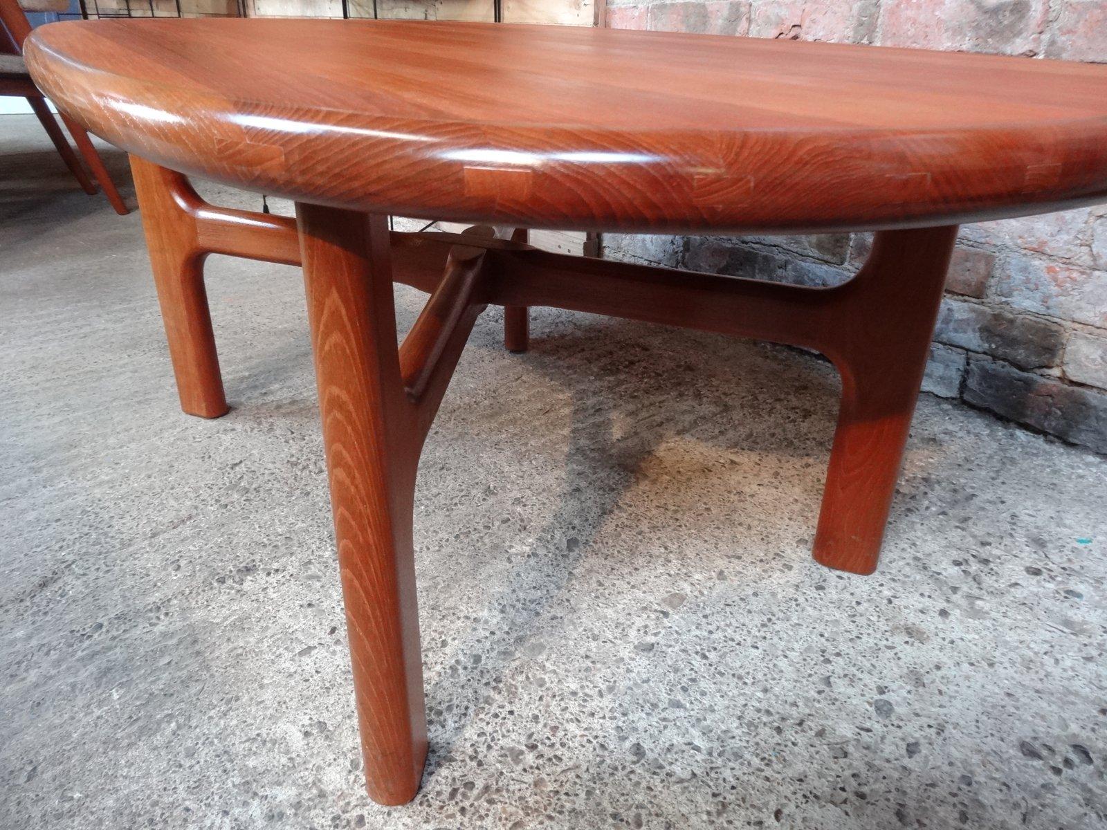Table basse mid century en teck massif de dyrlund 1970s en vente sur pamono - Table basse en teck massif ...