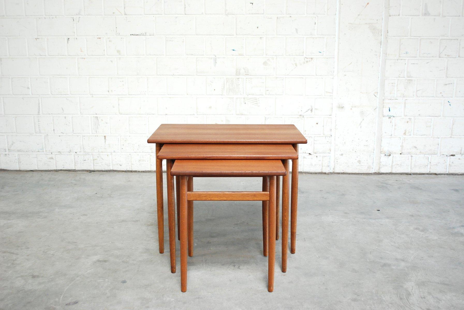 d nische vintage satztische von tove edvard kindt larsen f r seffle bei pamono kaufen. Black Bedroom Furniture Sets. Home Design Ideas