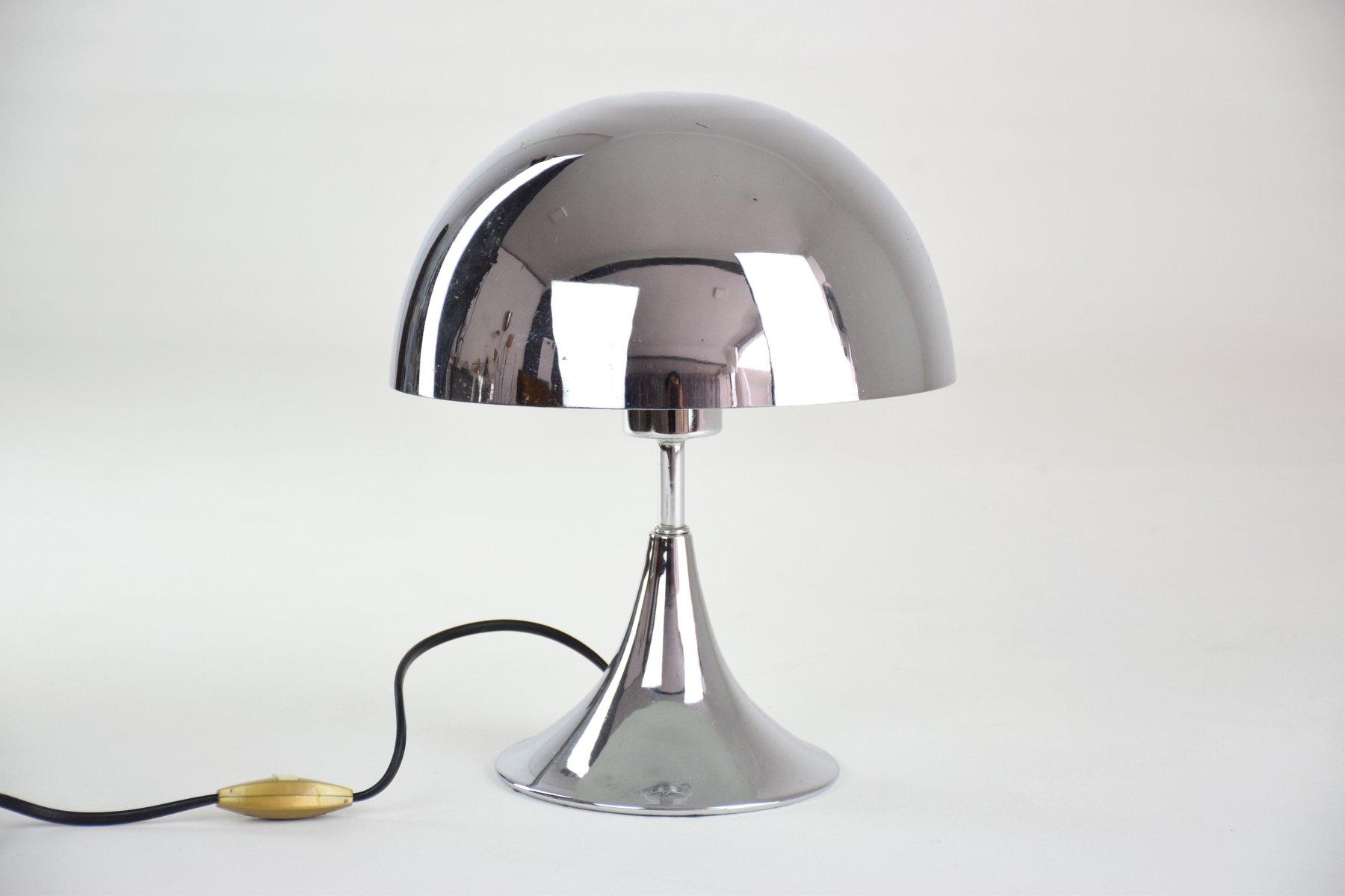 Französische Vintage Chrom Lampe
